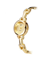 Lady's Stainless Steel Gold Chain Band Analog Bracelet Wrist Watch Jewelry Cool Watches Unique Watches