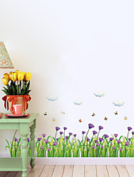 Botanical / Still Life / Florals Wall Stickers Plane Wall Stickers for home decor ,pvc 50*70CM