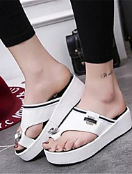 Women's Shoes  Platform Flip Flops Flip-Flops Outdoor / Casual Black / White