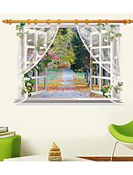 Botanical / Still Life / Landscape Wall Stickers 3D Wall Stickers,pvc 90*60CM