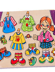 The Panel Wood Girl Puzzle For Children Dress New