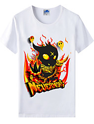 Flaming Light® World of Warcraft Wow Series Heroes Cartoon Dark Cosplay T-Shirt Cotton Lycra