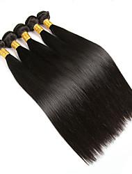 Человека ткет Волосы Бразильские волосы Прямые 5 предметов волосы ткет