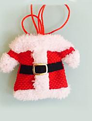 2 pcs décorations de Noël Happy Santa argenterie poches des détenteurs dîner de festas de décoration