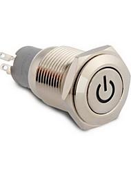 16 milímetros 12v led vermelho on / off botões mudar para o carro barco auto