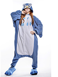 Kigurumi Pajamas New Cosplay® Owl Leotard/Onesie Festival/Holiday Animal Sleepwear Halloween Blue Patchwork Polar Fleece Kigurumi For