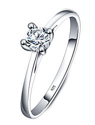 925 Sterling Silver Women Jewelry High Quality Ring with Cubic Zirconia Setting Perfect Gift For Girls