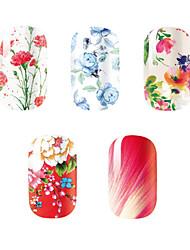 Мультипликация / Цветы-3D наклейки на ногти-Пальцы рук-14.5*7.5-5PCS-Прочее