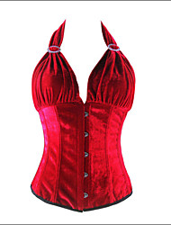 Corset Vêtement de nuit Femme Mosaïque Nylon / Spandex / Modal Rouge Aux femmes