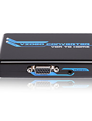VGA + Stereo to HDMI Converter 1080p with CE FCC RoSH Certificates