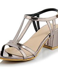 Zapatos de mujer-Tacón Robusto-Tacones-Sandalias-Boda / Vestido / Casual / Fiesta y Noche-Purpurina / Materiales Personalizados-Morado /