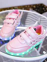 Boy's / Girl's Spring / Summer / Fall Round Toe Leatherette Outdoor / Casual / Athletic Flat Heel Black / Blue / Pink / Red