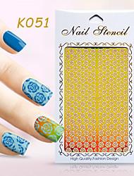 New Nail Art Hollow Stickers Flower Geometric Shape  Design  Nail Art Beauty K051-060