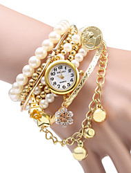 Women's Pearl Design Bracelet Quartz Watch Cool Watches Unique Watches