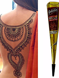 BLACK COLOR HERBAL HENNA CONES Temporary Tattoo Body ART INK HINA KIT Mehandi(1pcs)