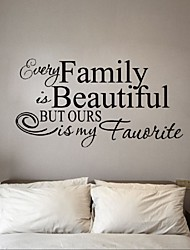 Stickers Every Family Is Beautiful Wall Sticker Quotes And Sayings Home Decoration Art Living Room