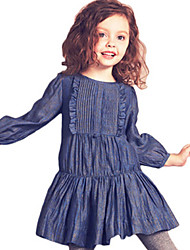 Girl's Blue Dress Cotton Spring / Fall