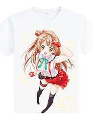 l'amour t-shirt à manches courtes en direct tergal cosplay blanc