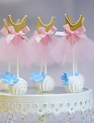 Decorações de Bolo Não-personalizado Engraçado e Relutante Papel de Cartão Casamento / Aniversário Fitas / Laço RosaTema Praia / Tema