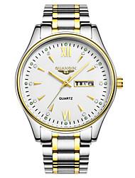 Guanqin Top Grade Quartz Waterproof Sapphire Crystal Watch Calendar Luminous Steel 38mm Dress Wristwatch for Men