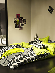 Geometry duvet cover Sets 100% Cotton Bedding Set Queen/Double/Full Size