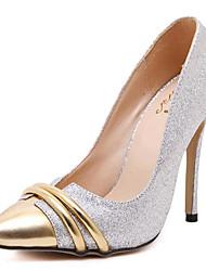 Calçados Femininos-Saltos-Saltos-Salto Agulha-Dourado-Courino-Festas & Noite
