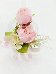 Wedding Flowers Free-form Roses Boutonnieres Wedding / Party/ Evening Fuchsia / Pink / Orange / Ivory Cotton
