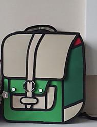 Mochila / Bolsa de Esporte & Lazer / Bolsa Para Notebook / Mochila Escolar-Unissex-Baguete-Azul / Verde / Vermelho-Náilon