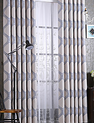 Two Panels European Living Room Polyester Panel Curtains Drapes