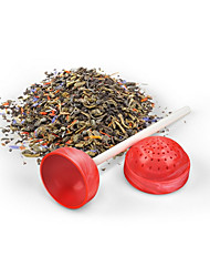 Sweet Tea Lollipop Tea Infuser Loose Tea Leaf Strainer Herbal Spice Silicone Filter Diffuser(Random Color)
