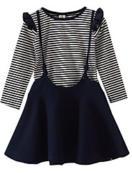 Girl's Clothing Set,Cotton Spring / Fall Blue