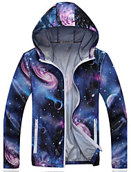 Men's Long Sleeve Jacket,Polyester / Nylon Casual / Sport Print 916039
