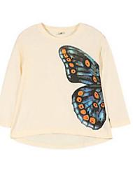 Katoen-Lente-Girl's-T-shirt-Beige
