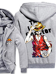 Inspired by One Piece Monkey D. Luffy Anime Cosplay Costumes Cosplay Hoodies Print Gray Long Sleeve Top