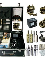 Basekey Tattoo Kit K0163 3Guns Machine With Power Supply Grips Cleaning Brush Needles