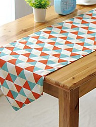 Multicolor Triangle Pattern Table Runner Fashion Hotsale High-grade Cotton Linen Table Top Deco