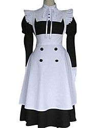 Inspired by Black Butler Mey-Rin Anime Cosplay Costumes Cosplay Suits Patchwork White / Black Dress / Apron