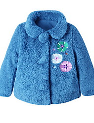Girl's Blue Jacket & Coat Cotton Winter