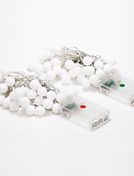 4m 40-LED-Outdoor-Urlaub Dekoration weiß / warmes weißes Licht-String-Licht geführt (4,5 V)