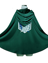Inspireret af Attack on Titan Eren Jager Anime Cosplay Kostumer Cosplay Hættetrøjer Trykt mønster Langærmet Top Til Mand