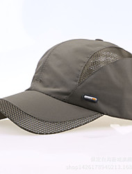 Bonnet Homme Pêche / Baseball / Sport de détente / Golf Rouge / Gris foncé / Gris clair / Noir / Bleu Tissu / Nylon Printemps / Eté
