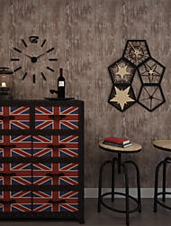 Contemporary Wallpaper Art Deco 3D Wood Grain Wallpaper Wall Covering Non-woven Fabric Wall Art