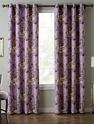 Chadmade SOFITEL Heat Transfer Print Classic Traditional Country Stylen - Nickle Grommet - Lavender