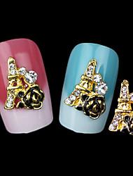 hermosa joyería de uñas rosa mentales (5 piezas)