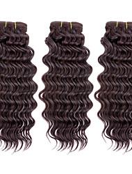 7a 3pcs / lot 110g / pcs, 100% reine brasilianische Menschenhaarbündel Haareinschlagfaden spinnt, neue tiefe Welle, bunt