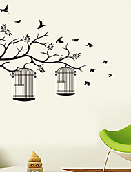 Wall Stickers Wall Decals Style The Branches on The Cage PVC Wall Stickers