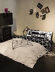 Beige duvet cover Sets 100% Cotton Bedding Set Queen/Double/Full Size