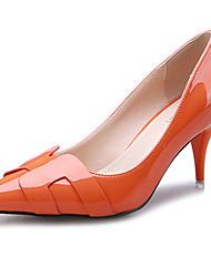 DamenLässig-Vlies-Stöckelabsatz-Absätze-Schwarz / Grün / Rosa / Rot / Orange