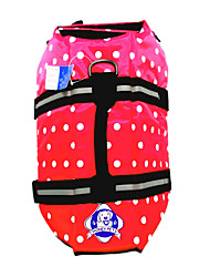 Dog Life Vest / Vest Red / Blue Dog Clothes Summer / Spring/Fall Polka Dots Waterproof