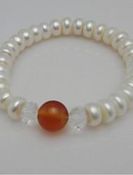 Women's Strand Bracelet Pearl / Agate Onyx / Crystal / Pearl